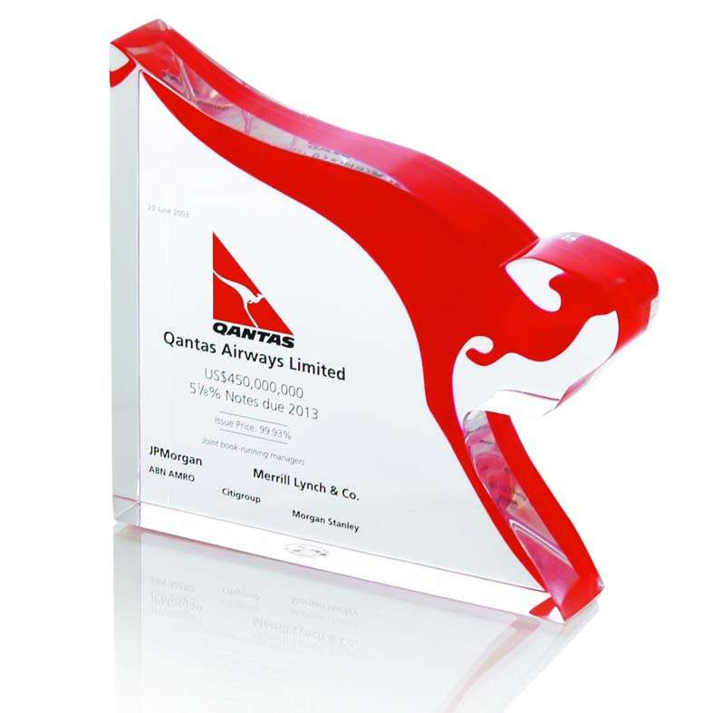 Qantas Airways Custom Lucite The Corporate Presence