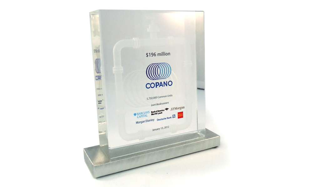 Copano Energy Financial Tombstone The Corporate Presence