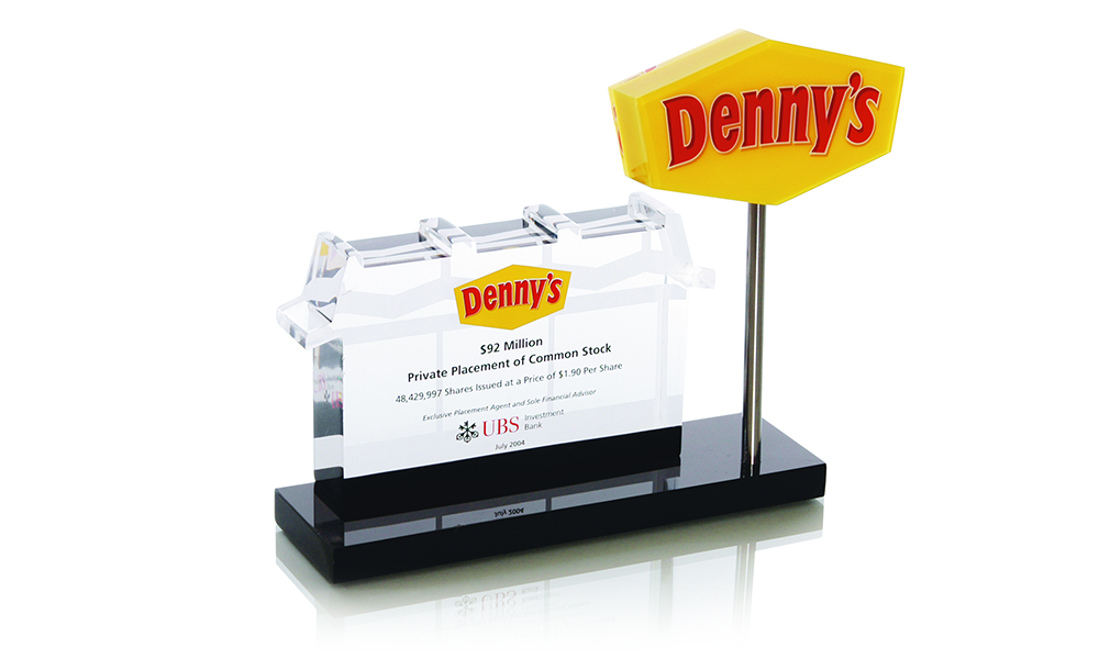 Denny's Custom Lucite Deal Toy