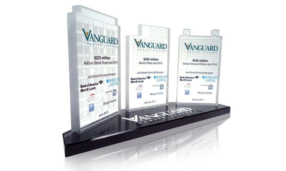 Vanguard Health Systems Lucite Deal Toys | The Corporate Presence
