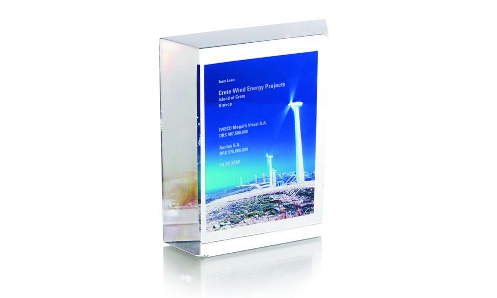 Crete Wind Energy Custom Lucite Trapezoid The Corporate
