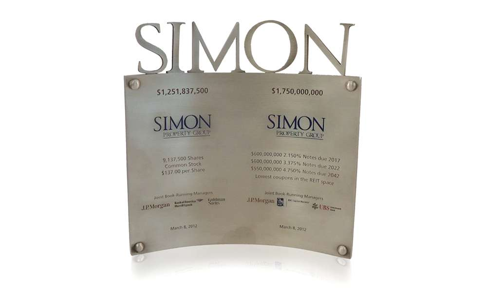 Simon pewter deal commemorative