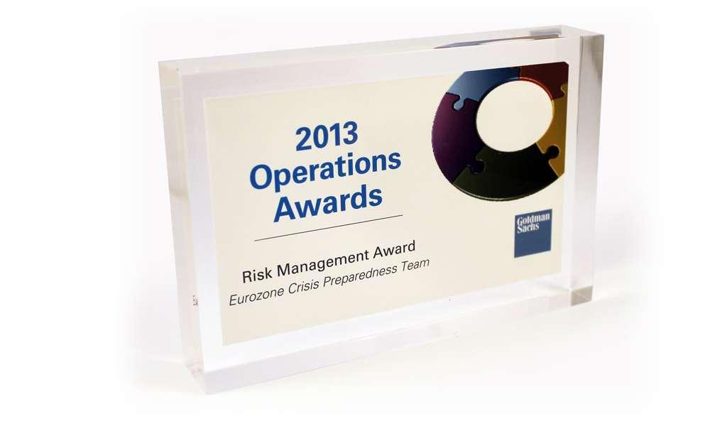 Goldman Sachs Team Recognition Award | The Corporate Presence