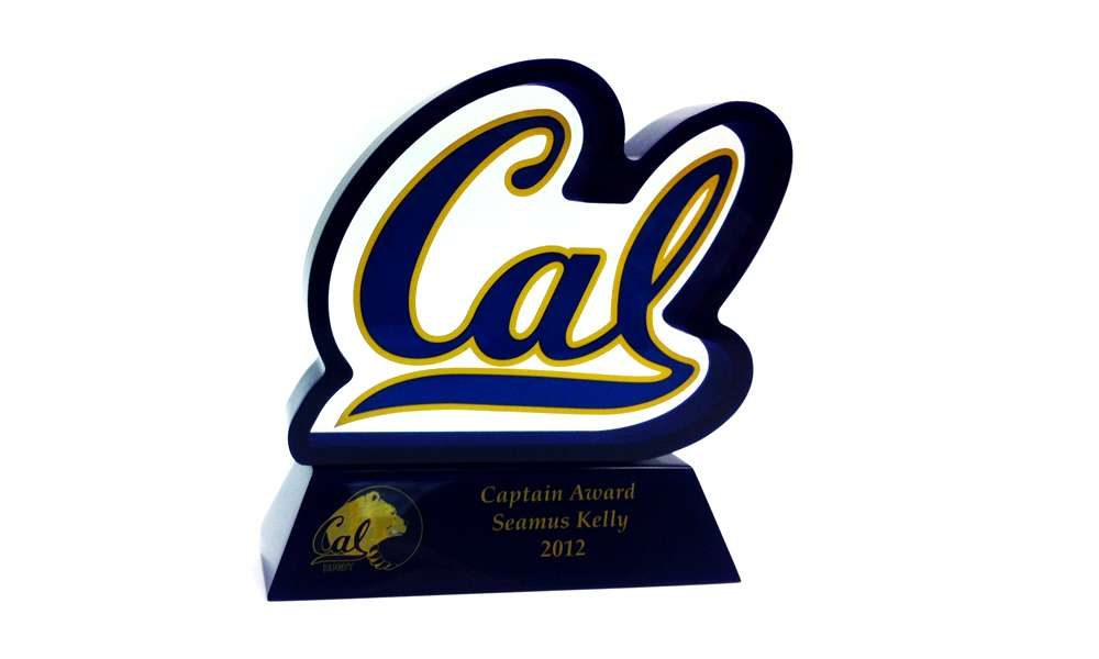 University of California Berkley Rugby Team Lucite Captain's Award