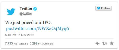 twitter ipo first tweet