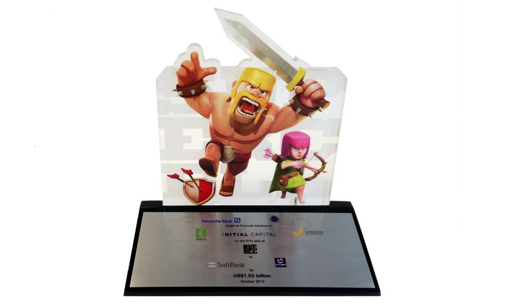 clash of clans lucite deal toy