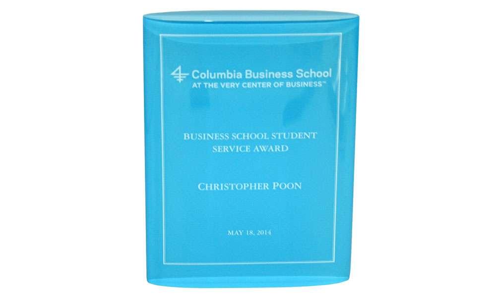 Columbia Business School Custom Lucite