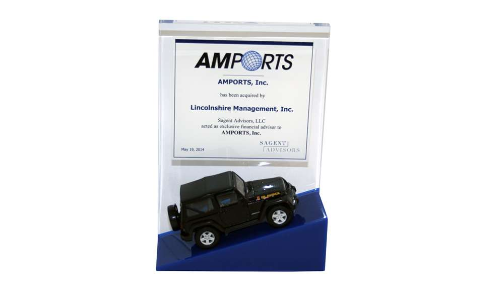 Amports Lucite Tombstone
