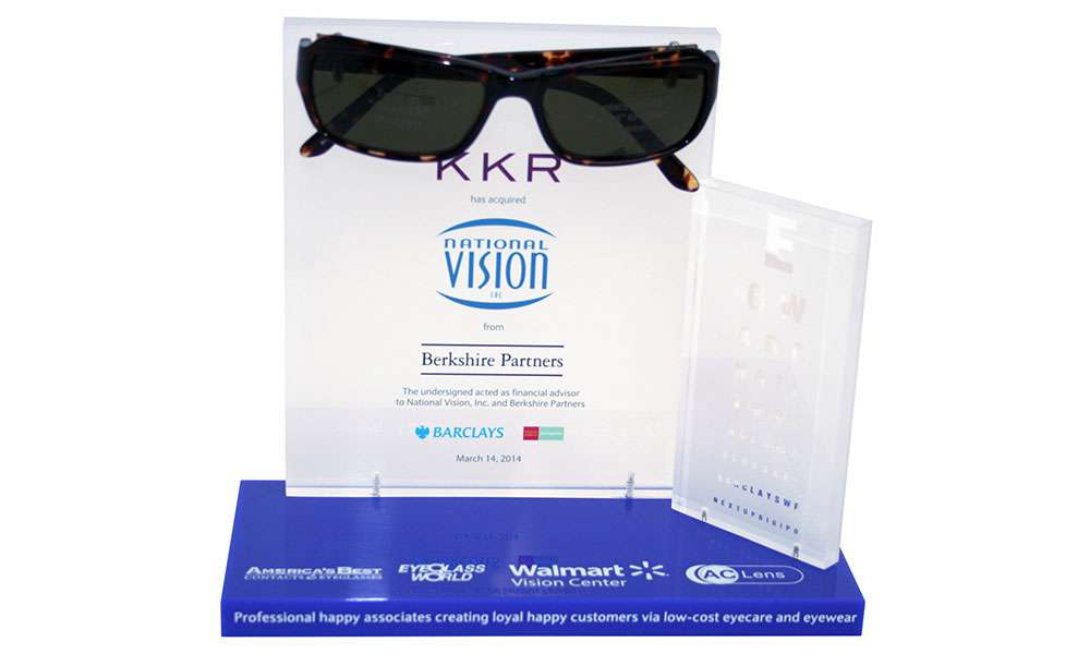 KKR National Vision Lucite Tombstone