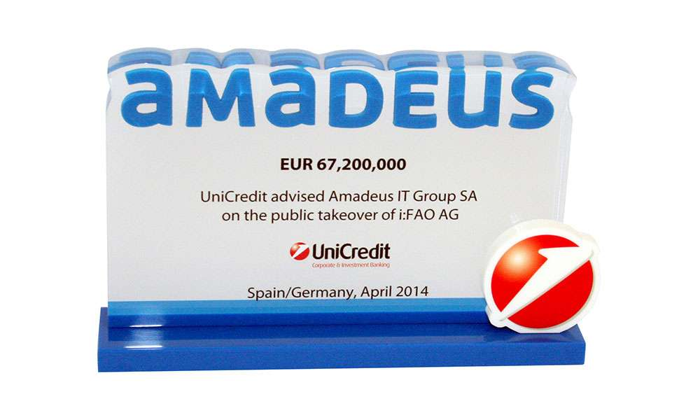 Amadeus UniCredit Financial Tombstone, London