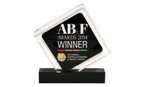 Custom Lucite Australian Banking Award