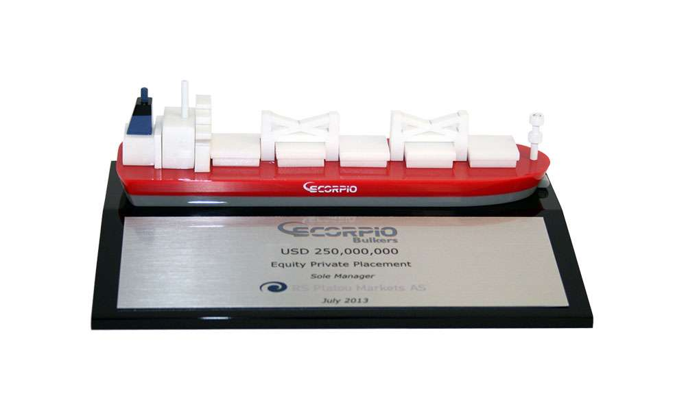 scorpio-bulkers-dry-bulk-carrier-lucite-tombstone
