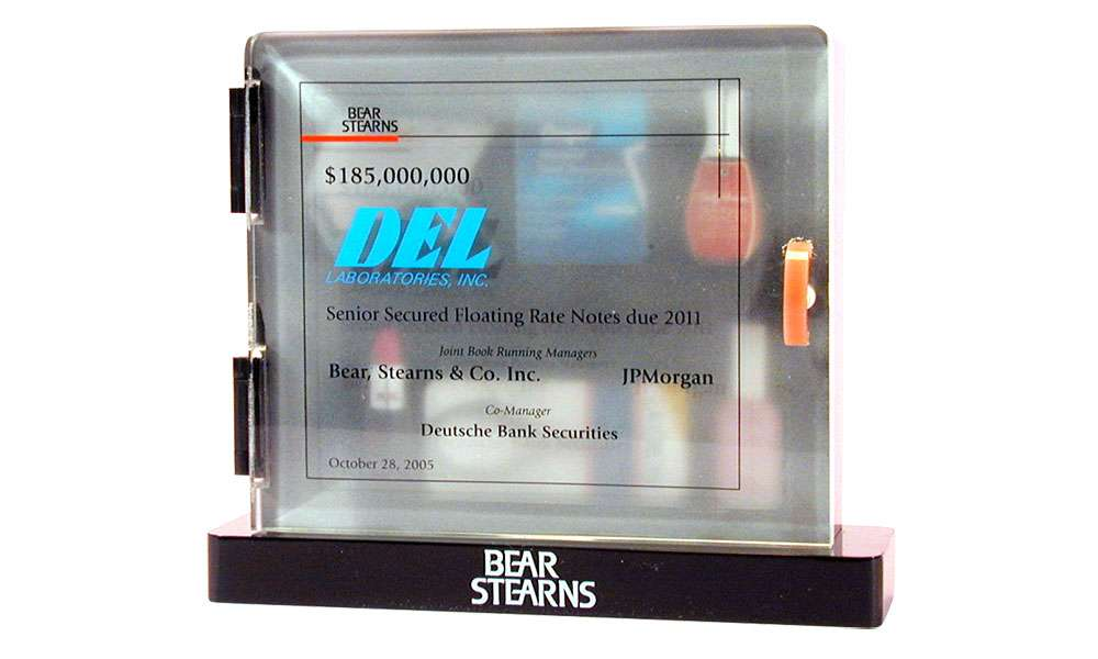 Bear Stearns Del Labs medicine cabinet healthcare deal toy