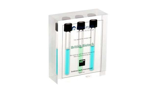 Acrylic Embedment with Test Tubes | British Biotech