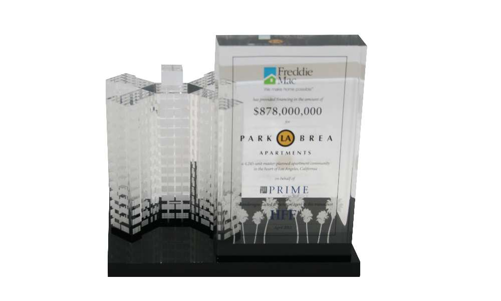 Custom Lucite Real Estate Tombstone