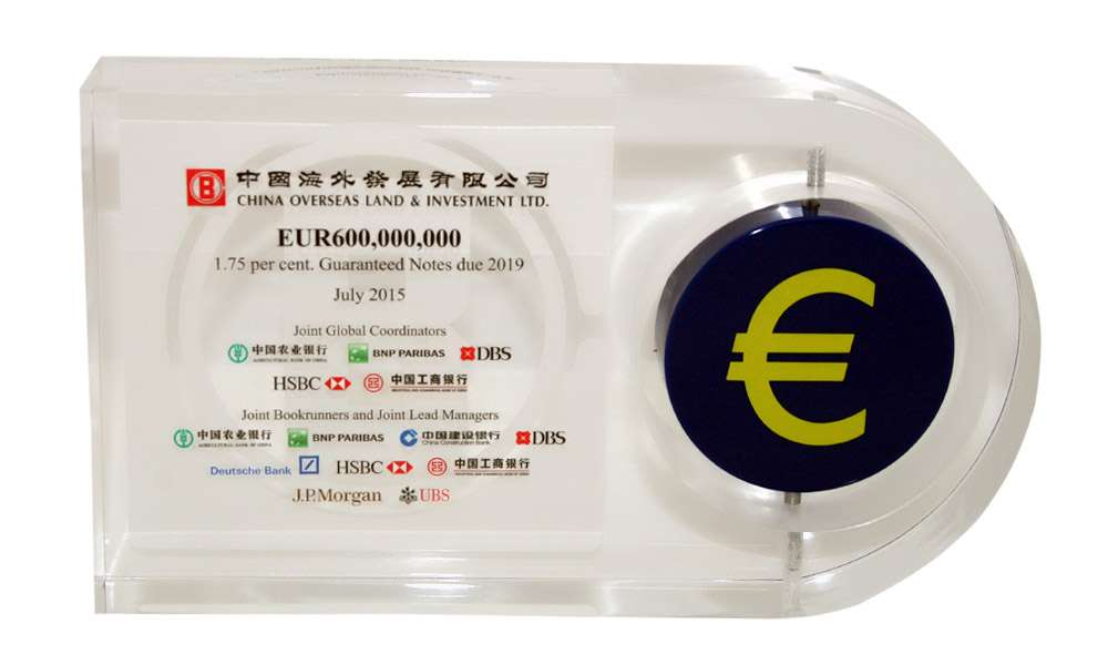 Euro-Themed Lucite Tombstone