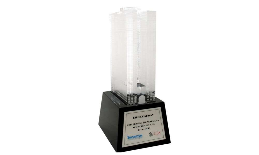 120 Broadway 100th Anniversary Lucite