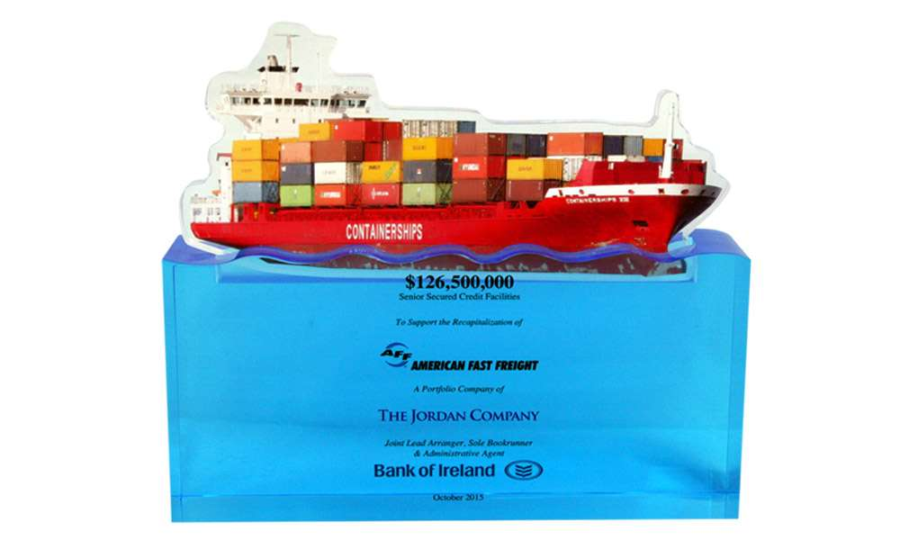 Container Ship-Themed Deal Tombstone