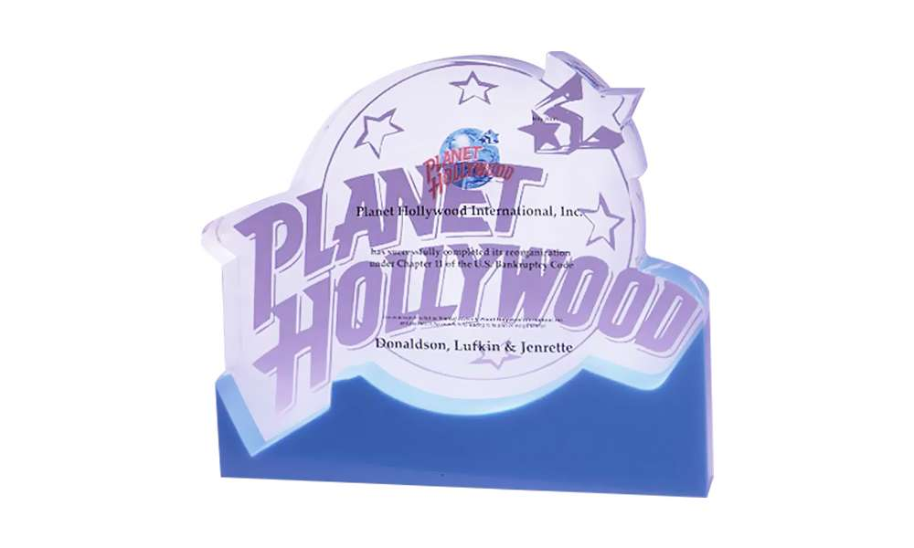 Planet Hollywood-DLJ Lucite Tombstone