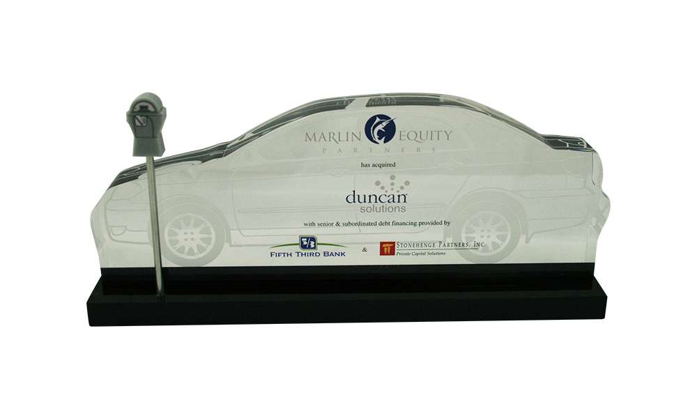 Car-Themed Financial Tombstone
