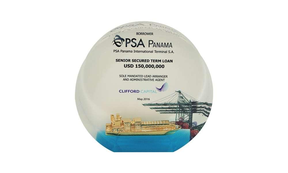 Custom Acrylic Embedment with Ship