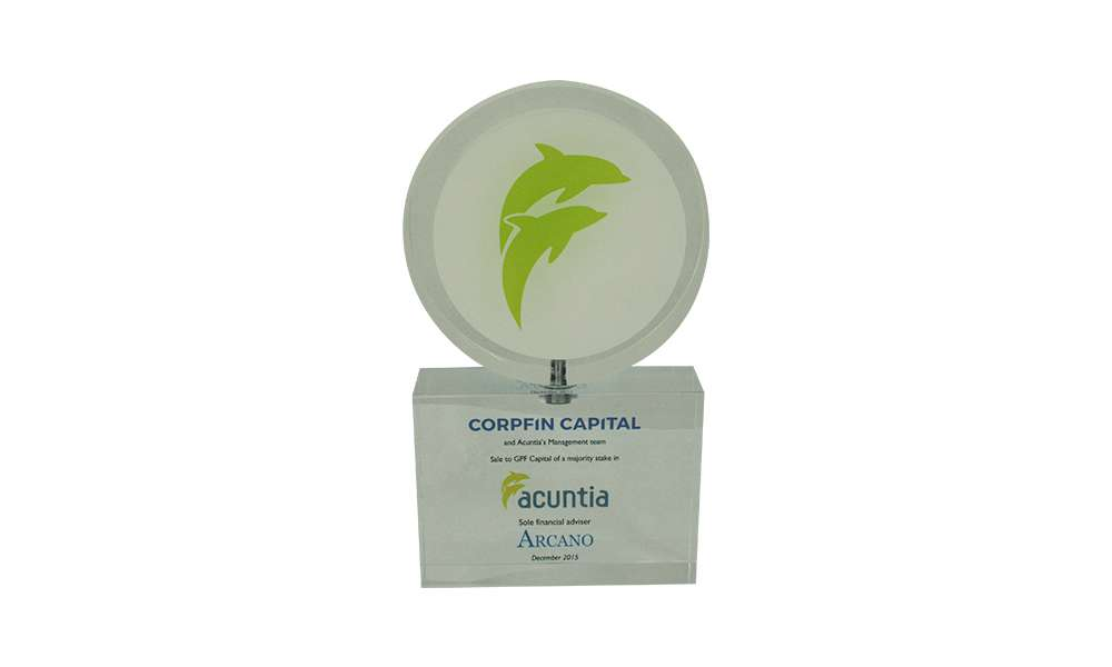 Corpfin Capital-Acuntia Deal Tombstone