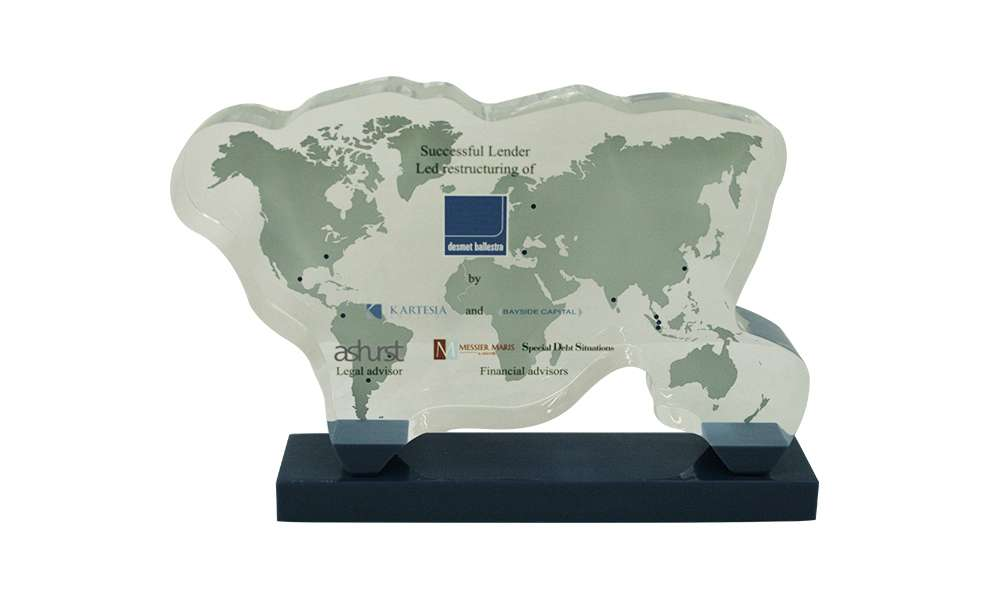 Global Map-Themed Lucite Deal Toy