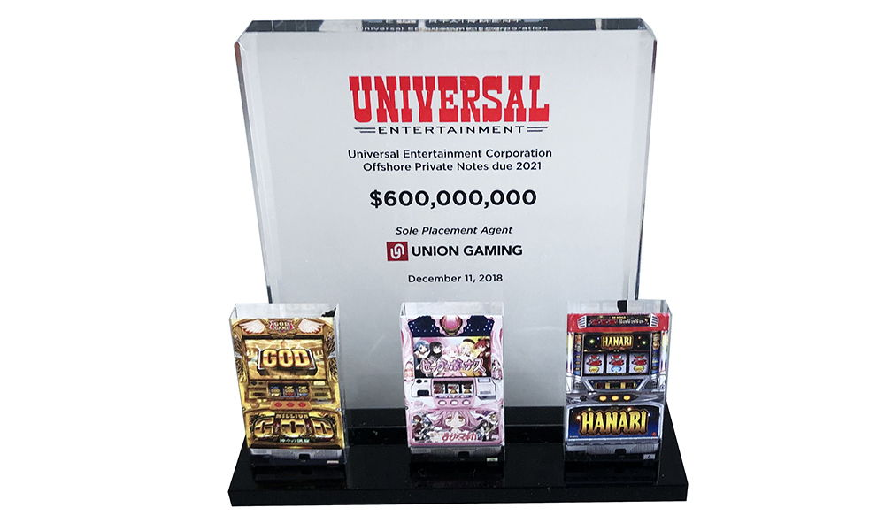 Slot Machine-Themed Financial Tombstone