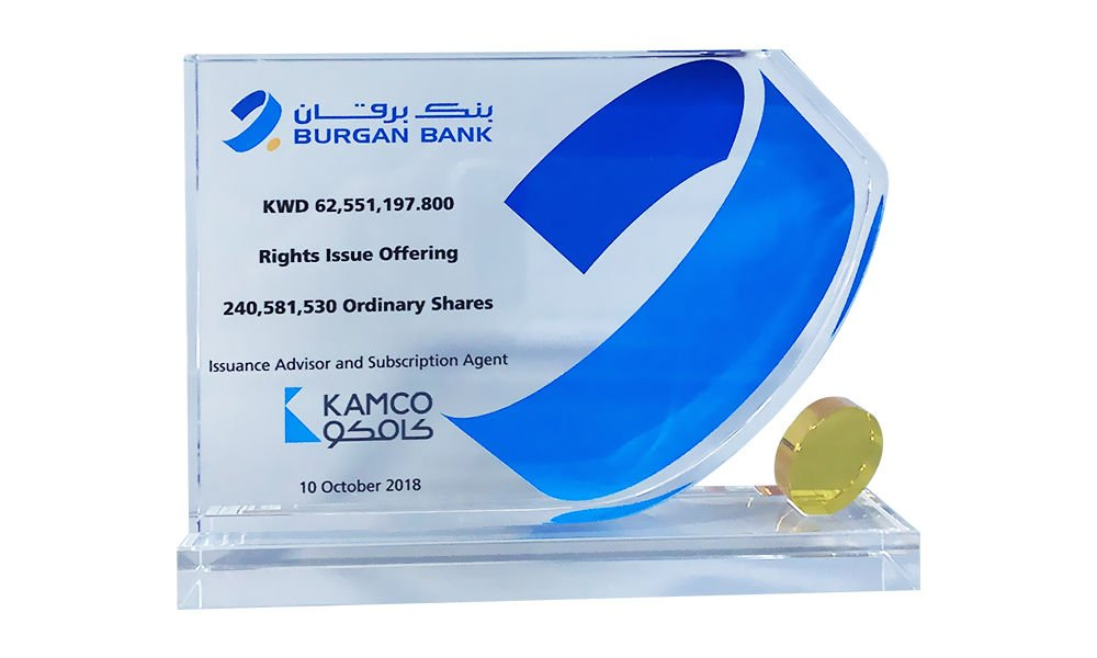 Banking Sector Crystal Tombstone