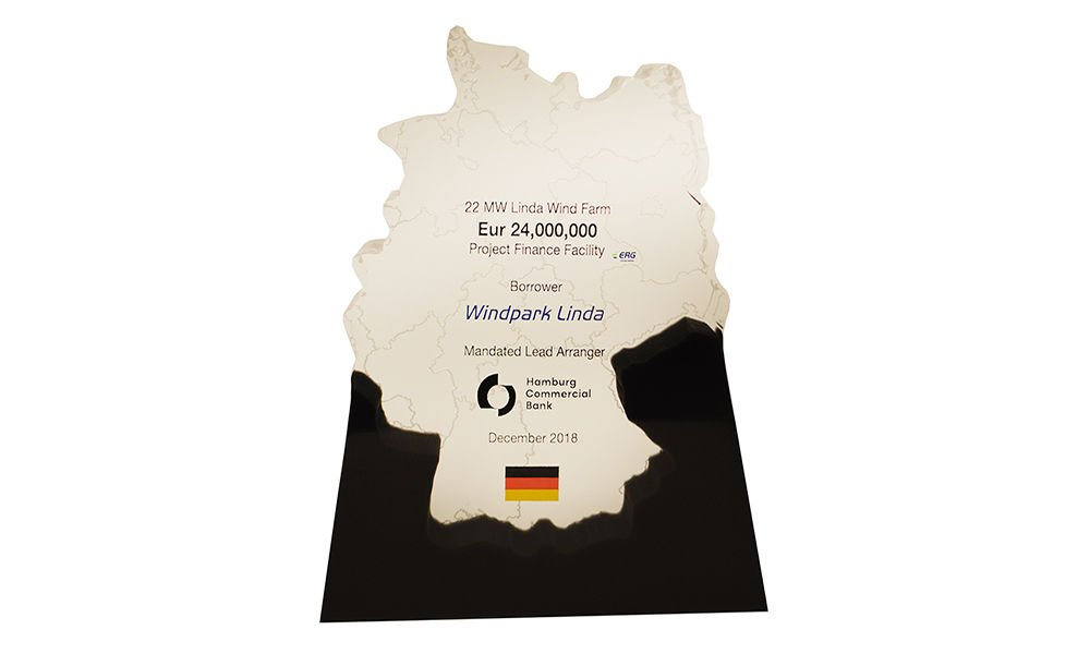 Germany-Themed Lucite Tombstone
