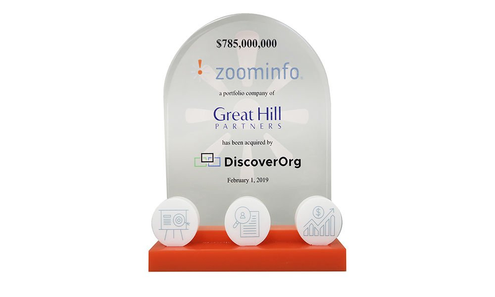 Database-Themed Lucite Tombstone
