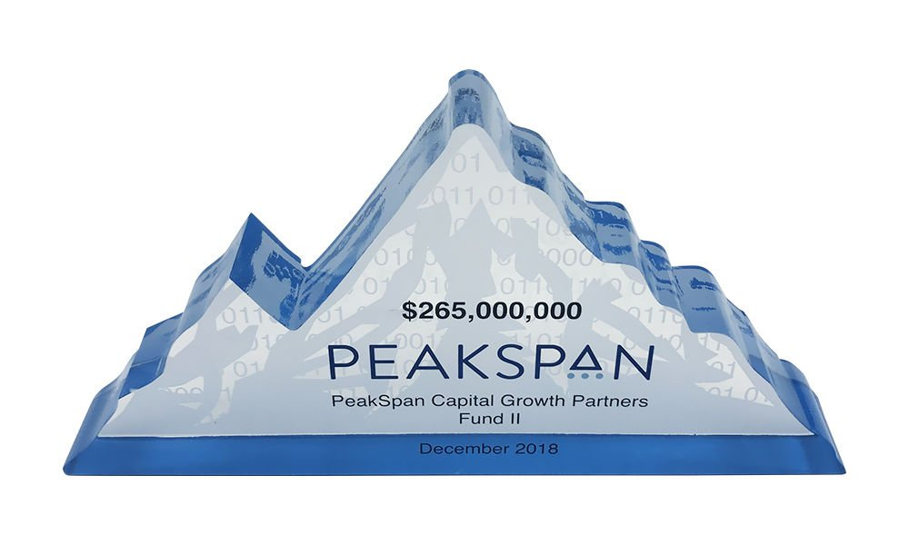 Mountain-Themed Custom Crystal
