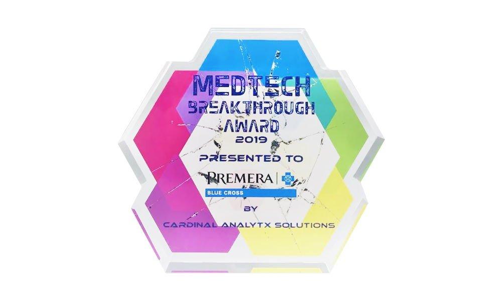 """""""Breakthrough""""-Themed Crystal Award"""
