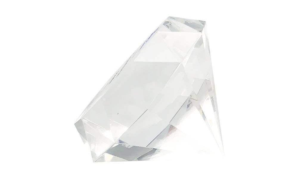 Diamond-Shaped Crystal Tombstone (Side View_