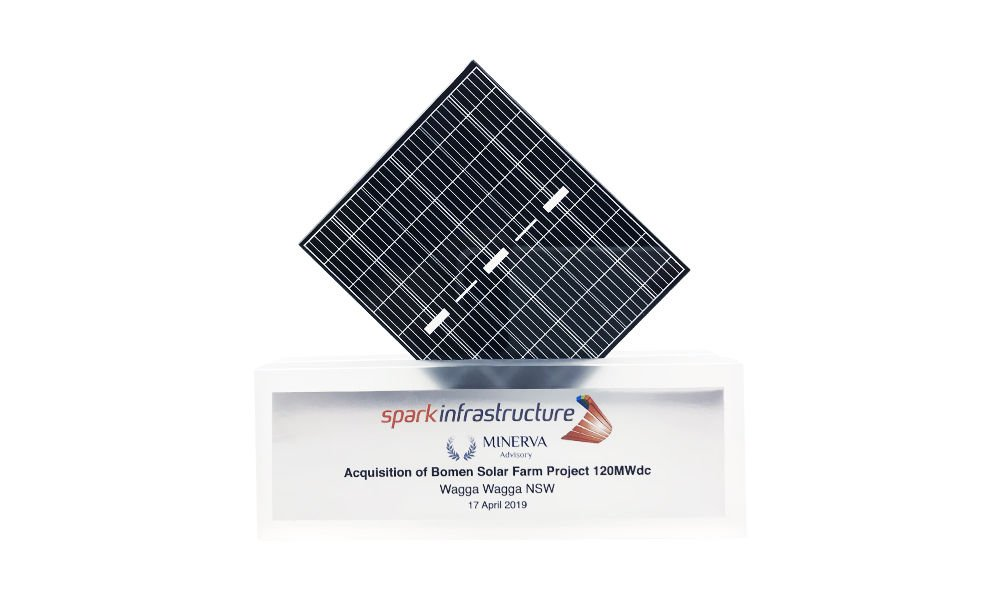 Solar Panel-Themed Deal Tombstone
