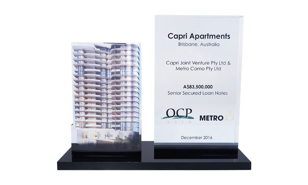 Apartment Tower-Themed Financial Tombstone