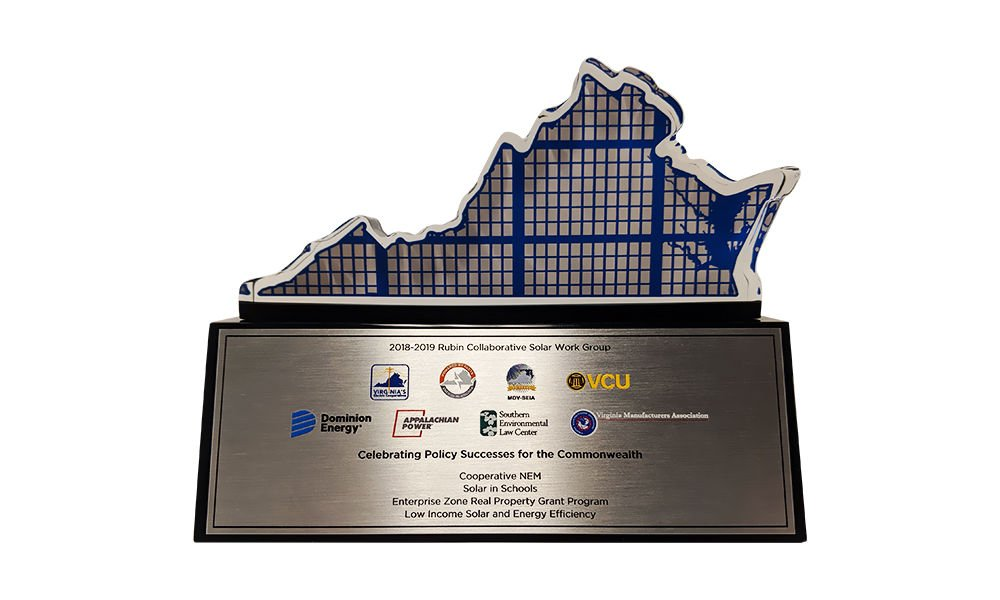 Virginia-Themed Custom Award