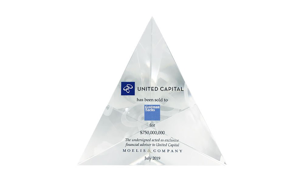 United Capital-Goldman Sachs Crystal Tombstone