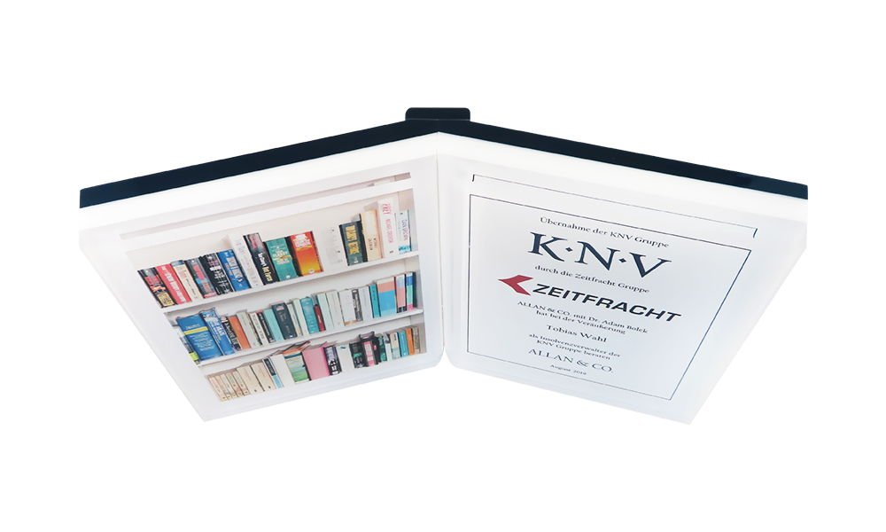 Book-Themed Lucite Tombstone